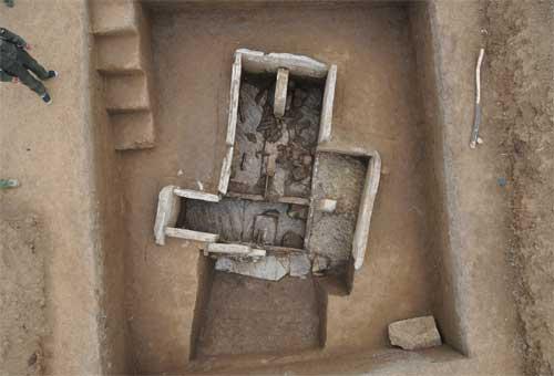 汉墓土坑结构图片