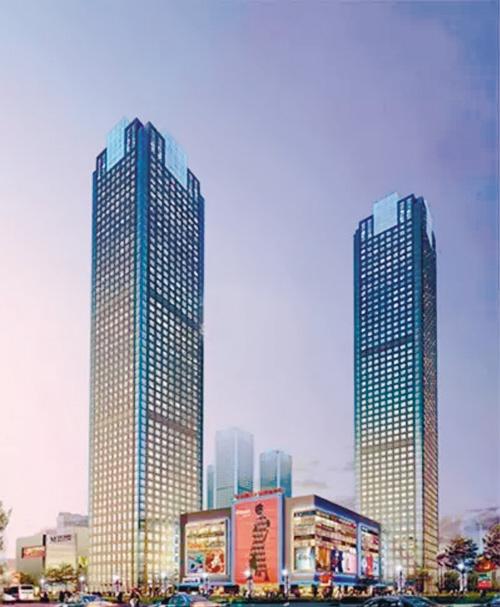 新世界sa1(224米),皇朝万鑫(219米),新世界sa2(218米)和夏宫广场(208